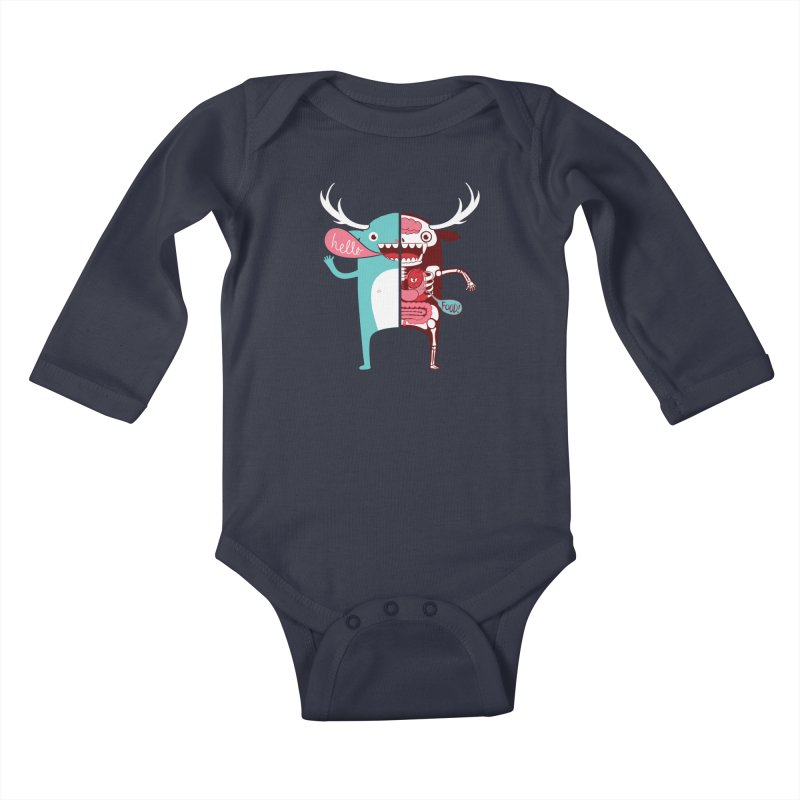 All monsters are the same! Kids Baby Longsleeve Bodysuit by Apparel by Marco aka ivejustquitsmoking