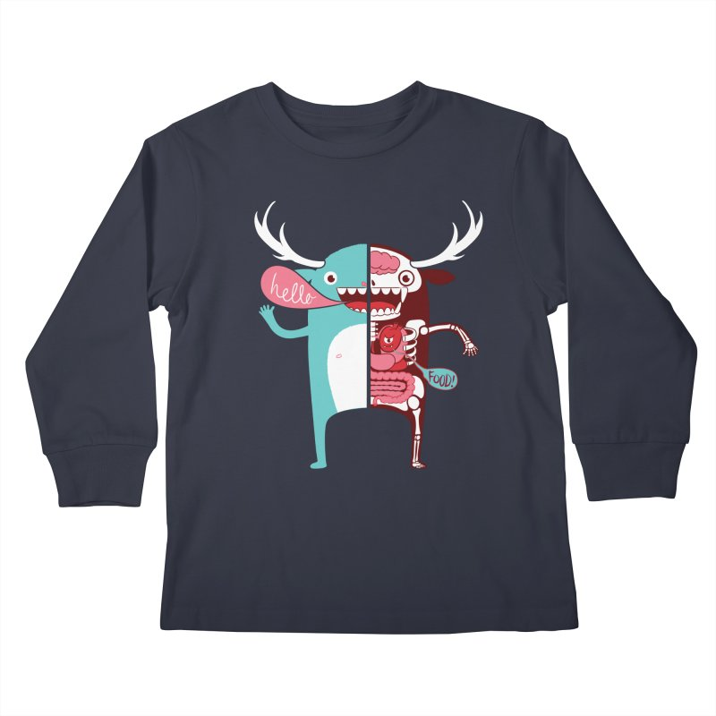 All monsters are the same! Kids Longsleeve T-Shirt by Apparel by Marco aka ivejustquitsmoking