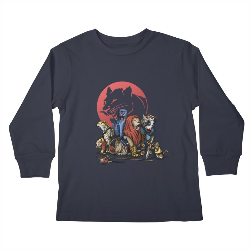 About thunder and cats Kids Longsleeve T-Shirt by marcosmoraes's Artist Shop