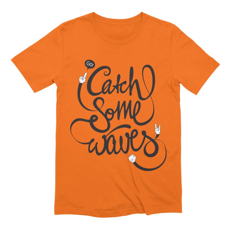 Go catch some waves! Men's Extra Soft T-Shirt by marcovanzomeren's Artist Shop