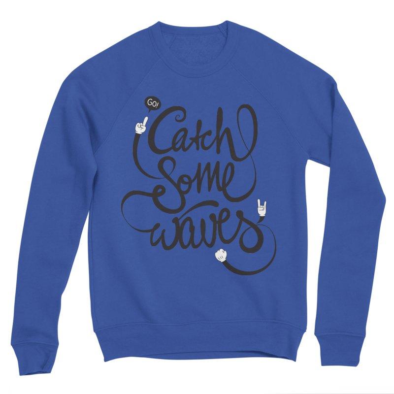 Go catch some waves! Men's Sponge Fleece Sweatshirt by marcovanzomeren's Artist Shop