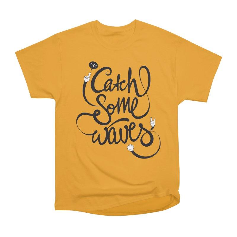 Go catch some waves! Men's Heavyweight T-Shirt by marcovanzomeren's Artist Shop