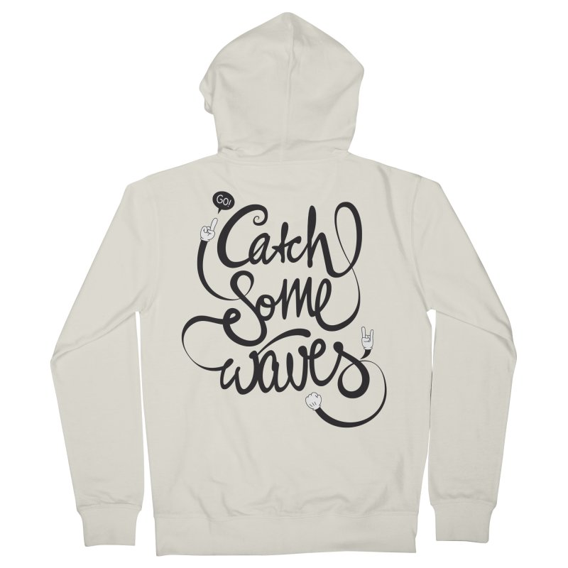 Go catch some waves! Women's French Terry Zip-Up Hoody by marcovanzomeren's Artist Shop