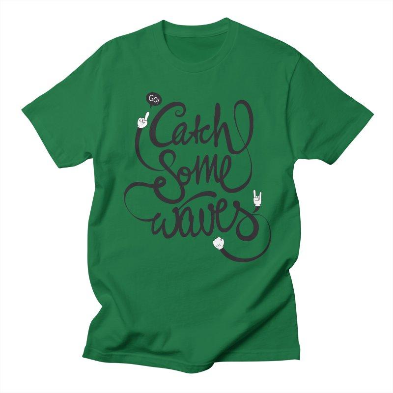 Go catch some waves! Women's Regular Unisex T-Shirt by marcovanzomeren's Artist Shop