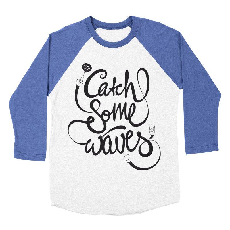 Go catch some waves! Men's Baseball Triblend Longsleeve T-Shirt by marcovanzomeren's Artist Shop
