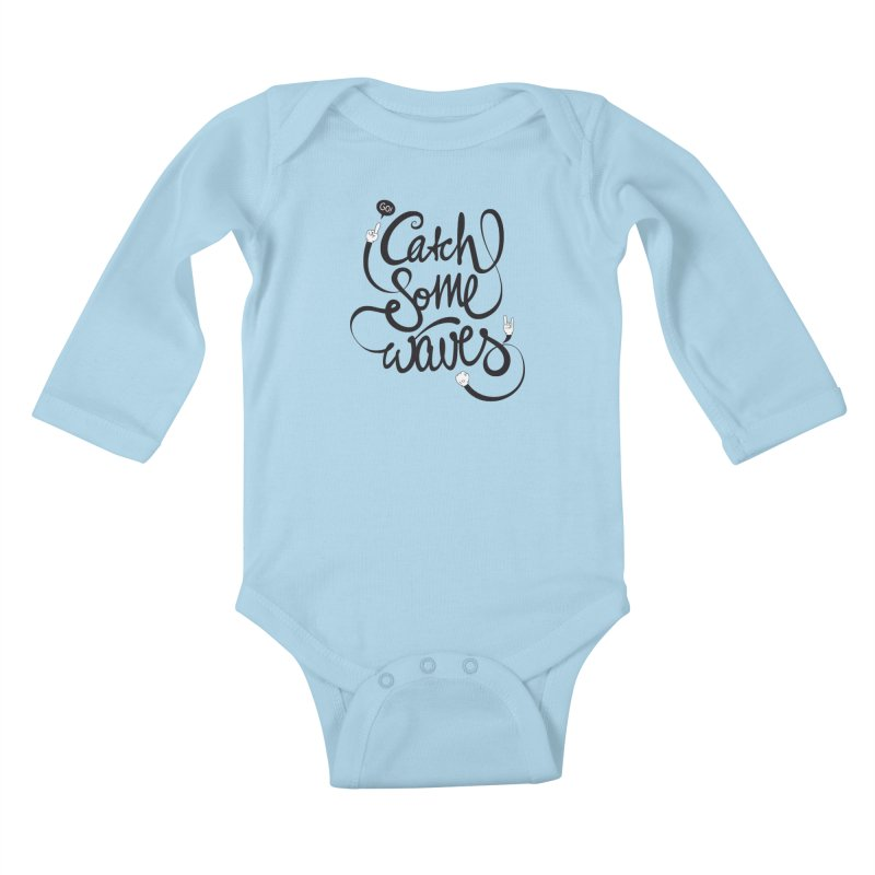 Go catch some waves! Kids Baby Longsleeve Bodysuit by marcovanzomeren's Artist Shop