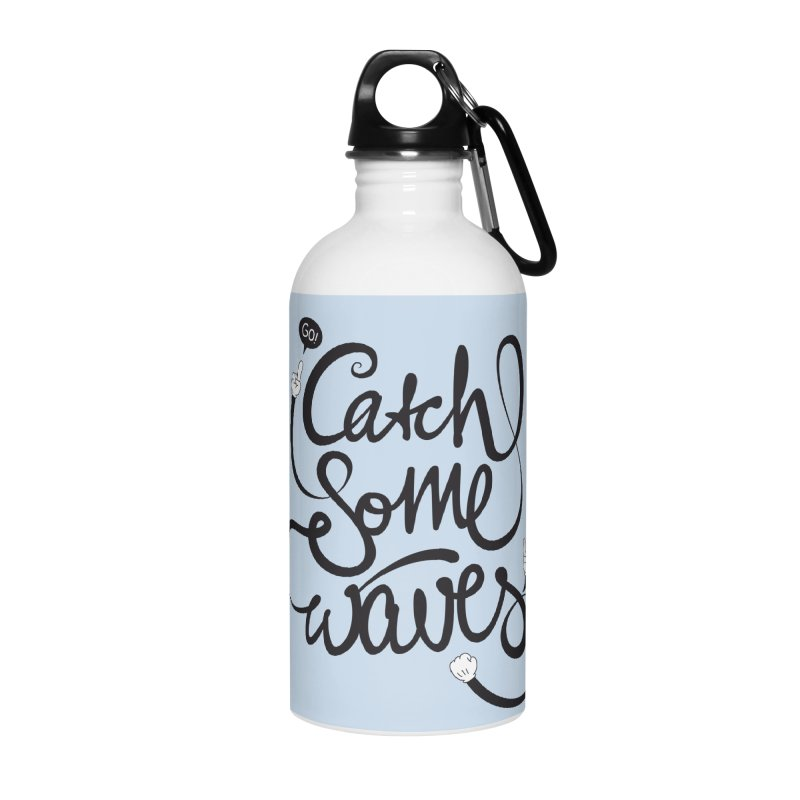 Go catch some waves! Accessories Water Bottle by marcovanzomeren's Artist Shop