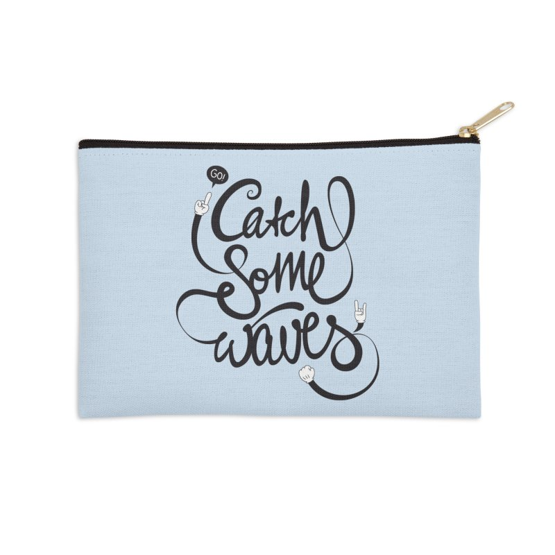 Go catch some waves! Accessories Zip Pouch by marcovanzomeren's Artist Shop