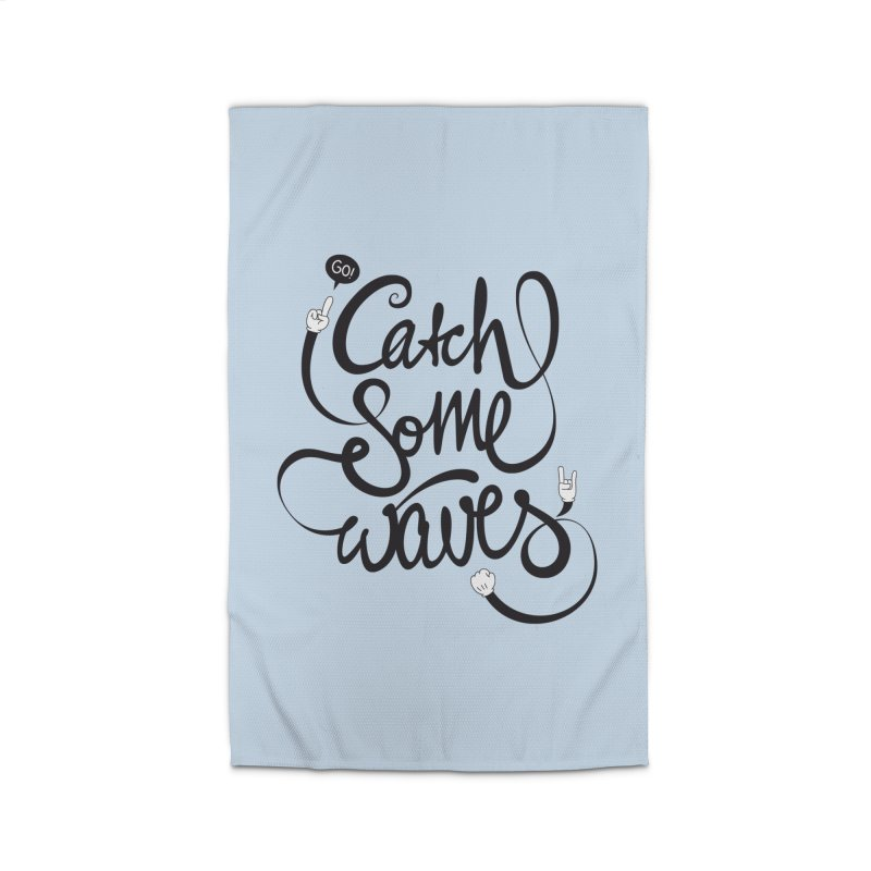 Go catch some waves! Home Rug by marcovanzomeren's Artist Shop