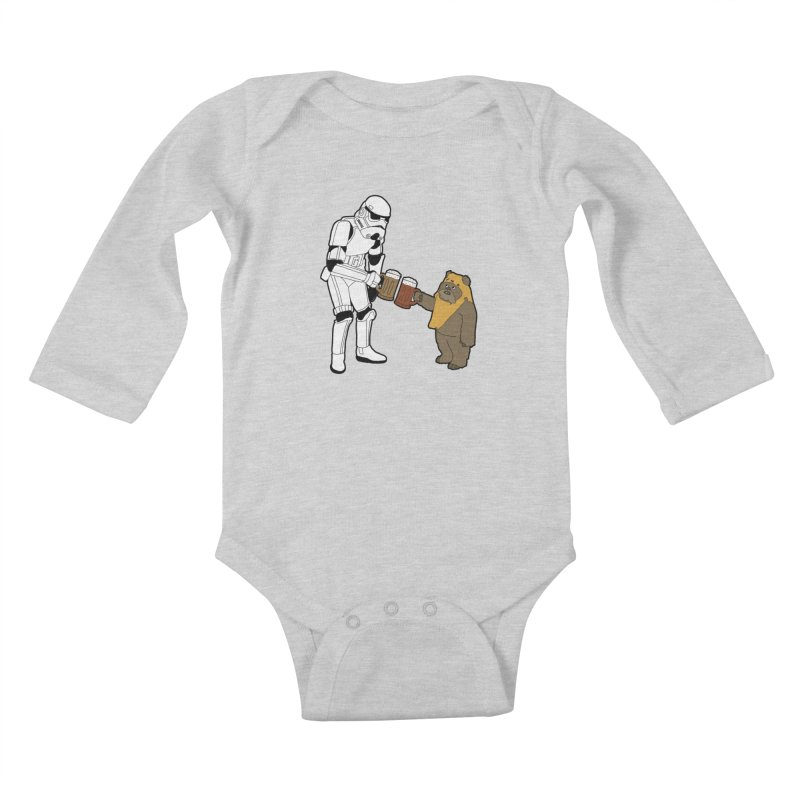 Cheers! Kids Baby Longsleeve Bodysuit by MarcPaperScissor's Artist Shop