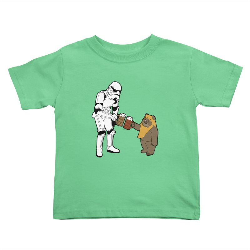 Cheers! Kids Toddler T-Shirt by MarcPaperScissor's Artist Shop