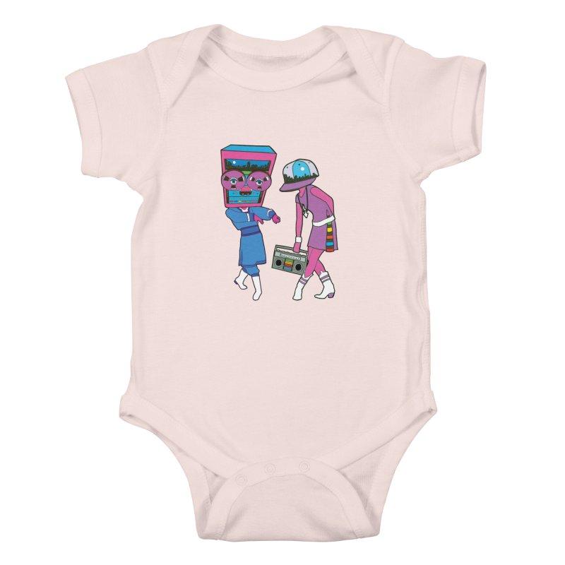 Around The Track Kids Baby Bodysuit by MarcPaperScissor's Artist Shop