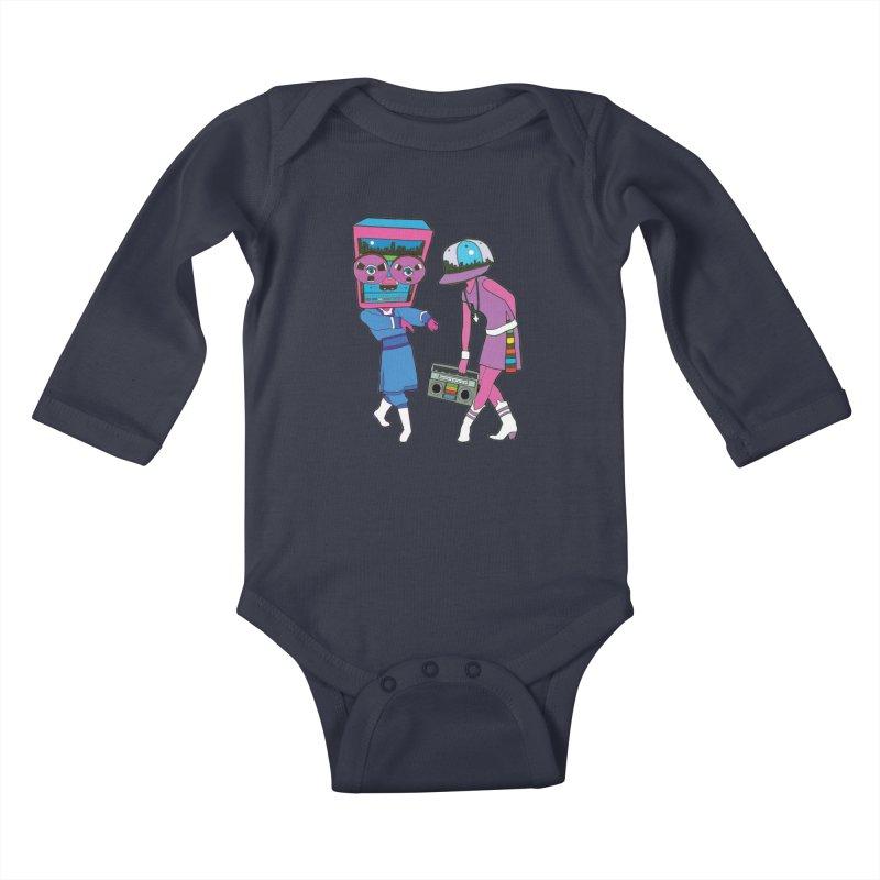Around The Track Kids Baby Longsleeve Bodysuit by MarcPaperScissor's Artist Shop