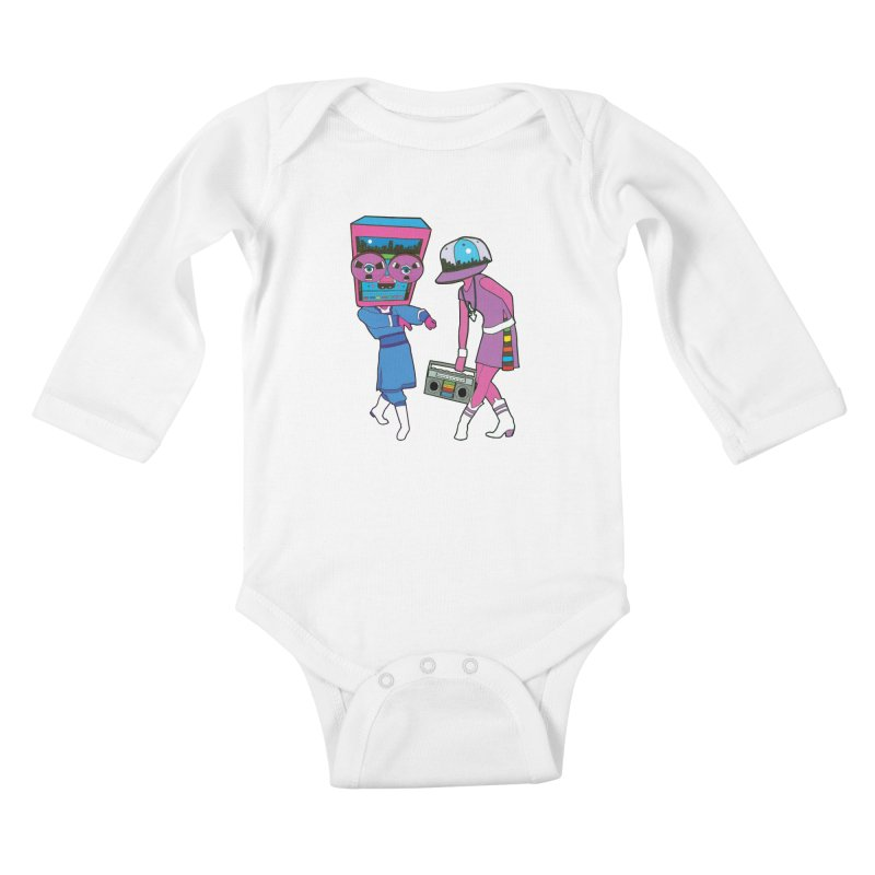 Around The Track Kids Baby Longsleeve Bodysuit by MarcPaperScissor's Artist Shop