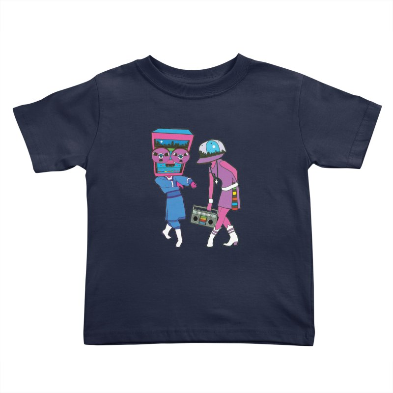 Around The Track Kids Toddler T-Shirt by MarcPaperScissor's Artist Shop