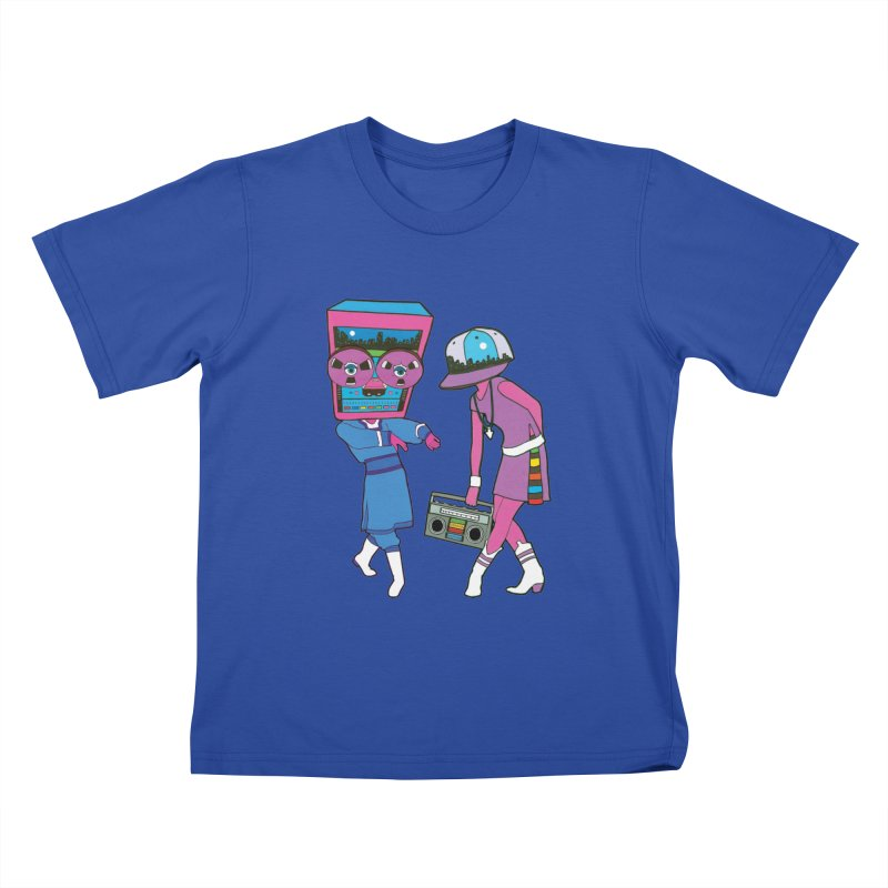 Around The Track Kids T-shirt by MarcPaperScissor's Artist Shop