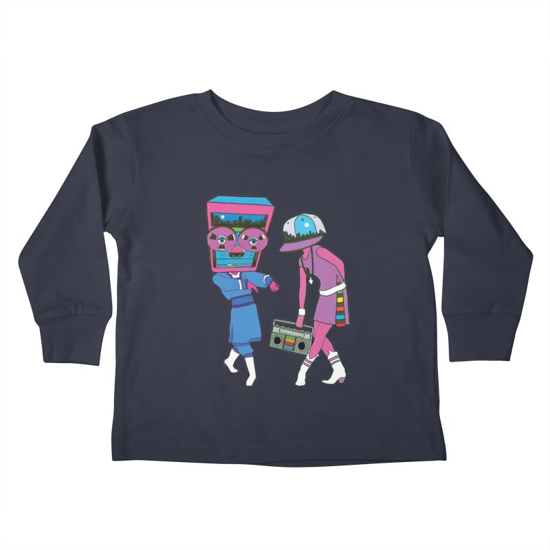 Around The Track Kids Toddler Longsleeve T-Shirt by MarcPaperScissor's Artist Shop