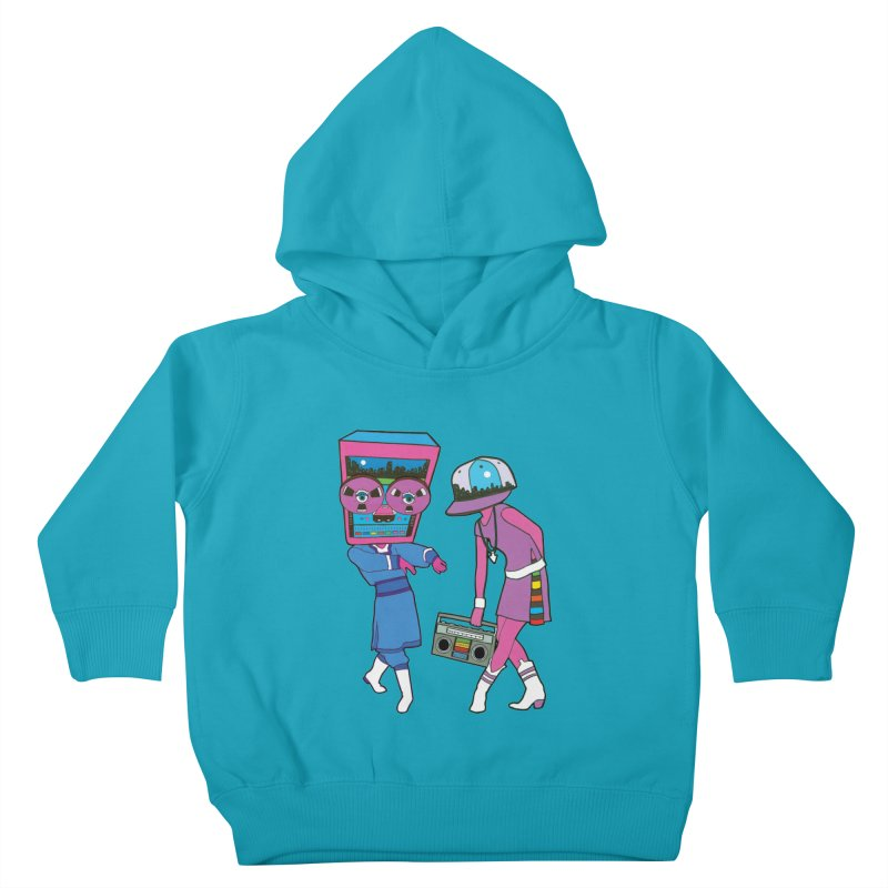 Around The Track Kids Toddler Pullover Hoody by MarcPaperScissor's Artist Shop