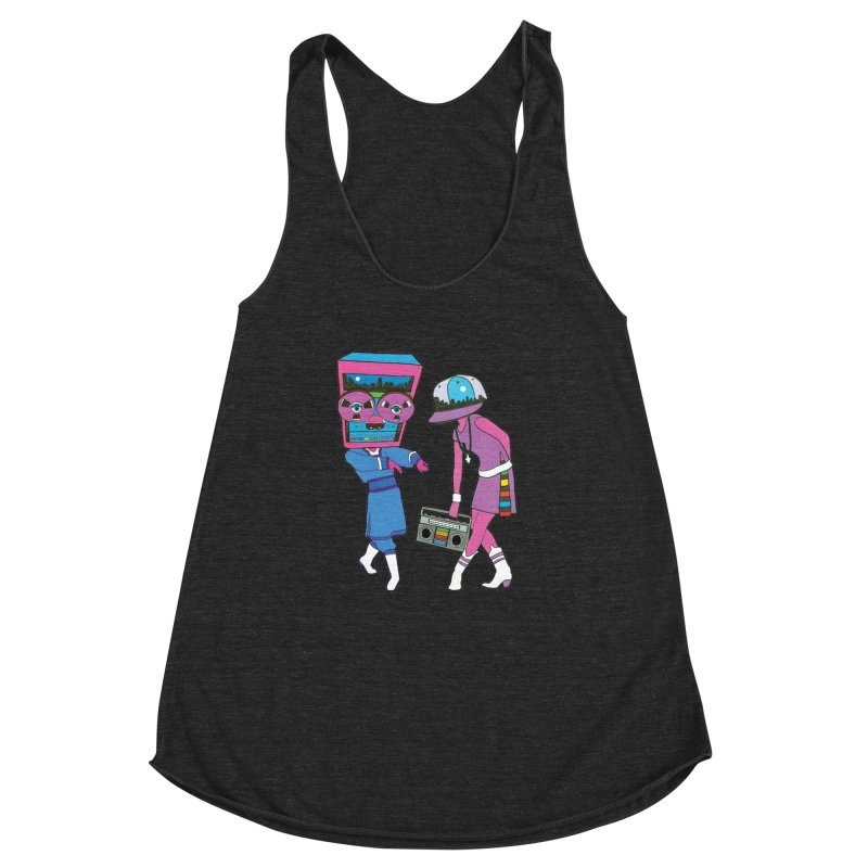 Around The Track Women's Racerback Triblend Tank by MarcPaperScissor's Artist Shop