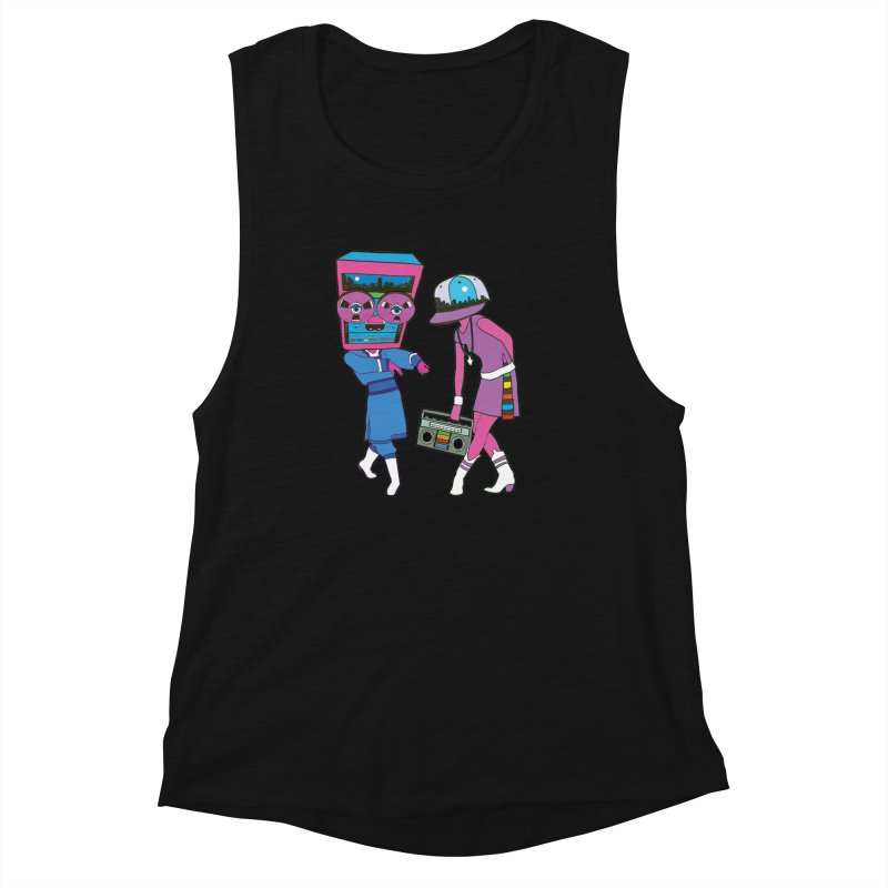 Around The Track Women's Muscle Tank by MarcPaperScissor's Artist Shop