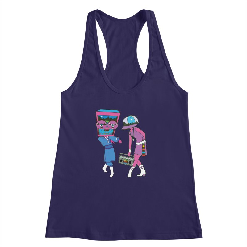 Around The Track Women's Racerback Tank by MarcPaperScissor's Artist Shop
