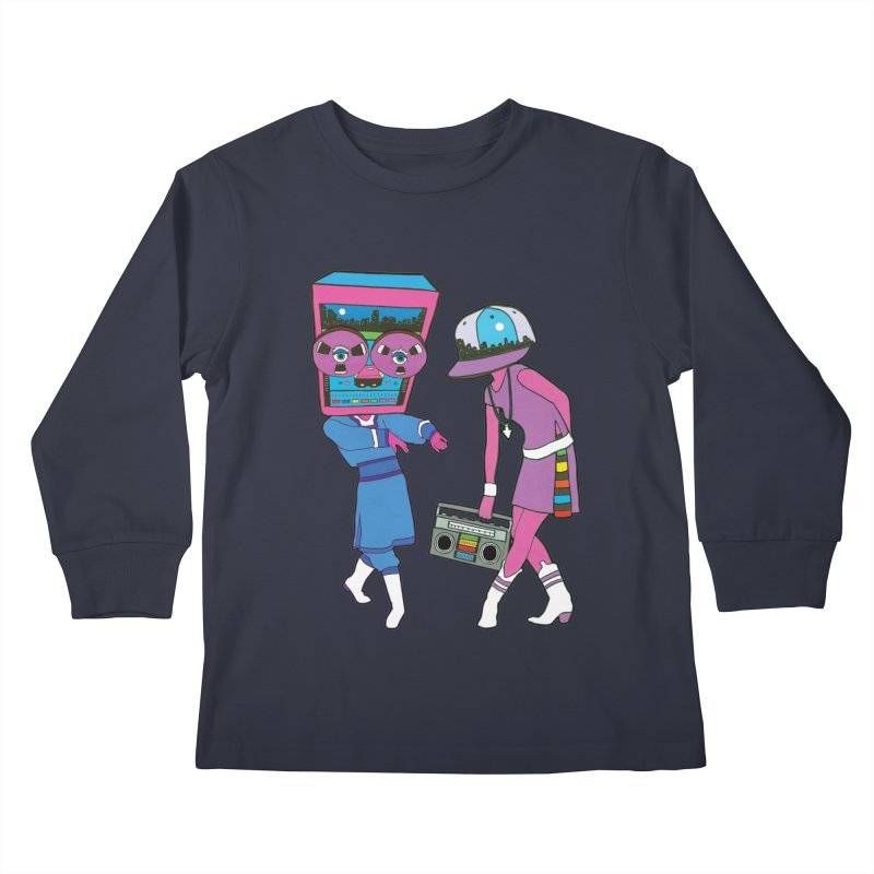 Around The Track Kids Longsleeve T-Shirt by MarcPaperScissor's Artist Shop