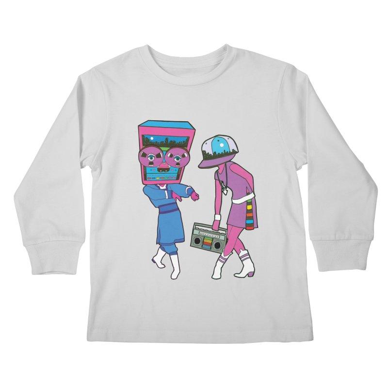 Around The Track Kids Longsleeve T-Shirt by MarcPaperScissor's Artist Shop