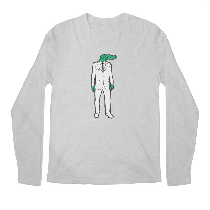 Gator Men's Regular Longsleeve T-Shirt by MarcPaperScissor's Artist Shop