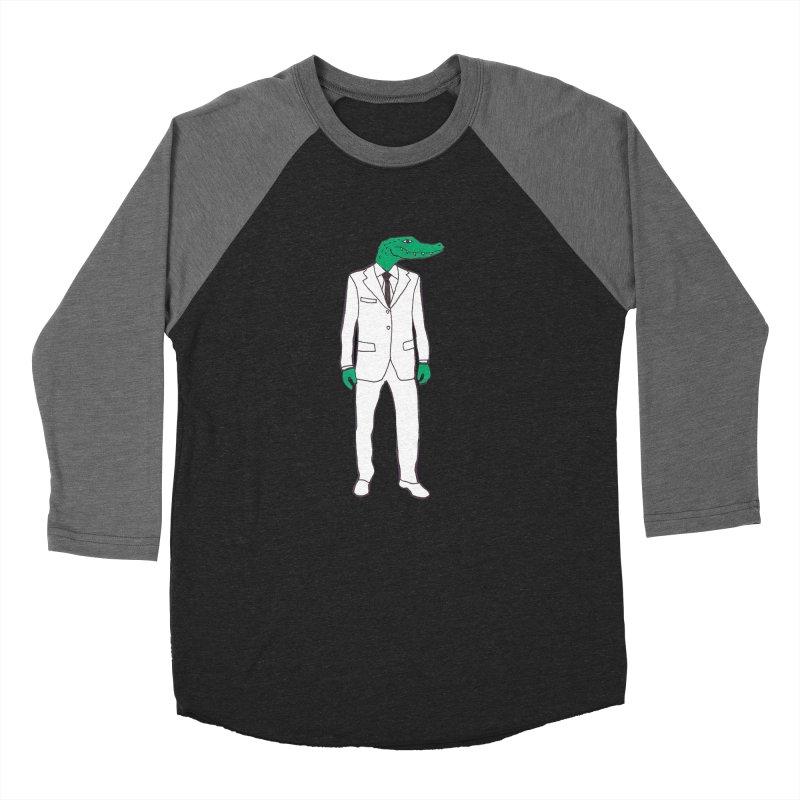 Gator Men's Baseball Triblend T-Shirt by MarcPaperScissor's Artist Shop