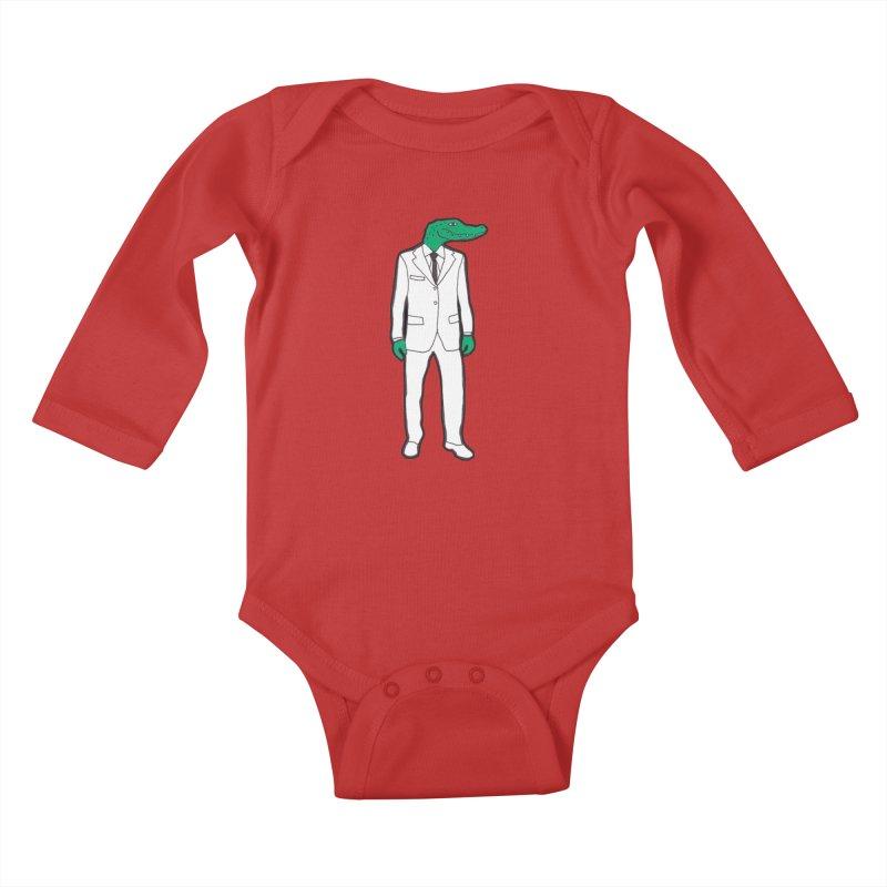 Gator Kids Baby Longsleeve Bodysuit by MarcPaperScissor's Artist Shop