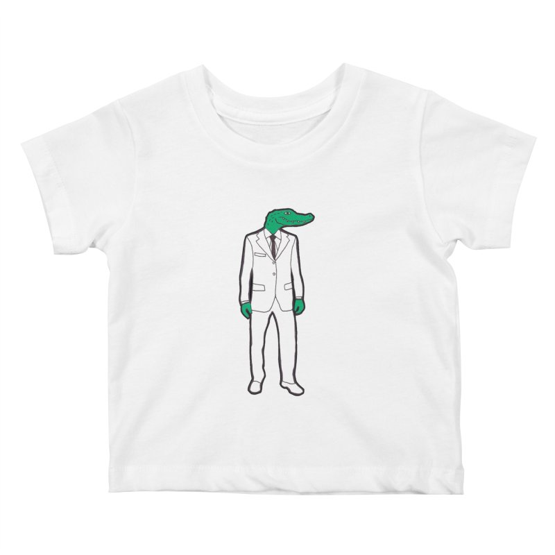 Gator Kids Baby T-Shirt by MarcPaperScissor's Artist Shop