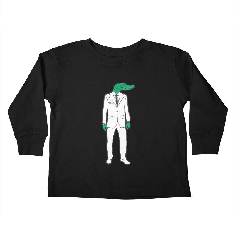 Gator Kids Toddler Longsleeve T-Shirt by MarcPaperScissor's Artist Shop