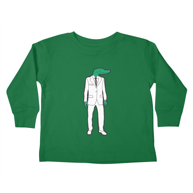 Gator Kids Toddler Longsleeve T-Shirt by MarcPaperScissor's Artist Shop