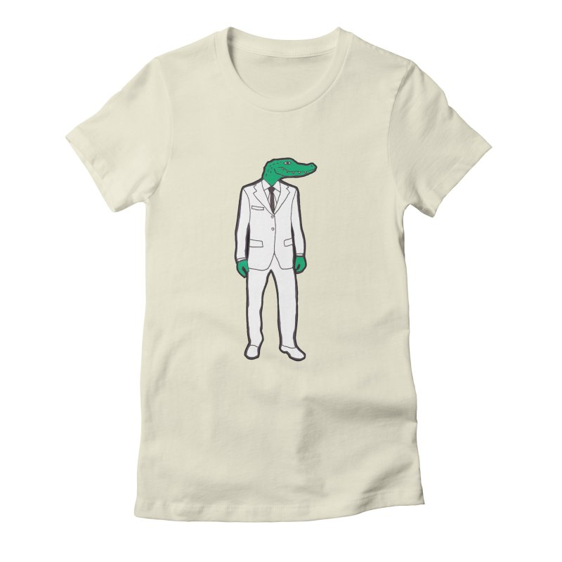 Gator Women's Fitted T-Shirt by MarcPaperScissor's Artist Shop