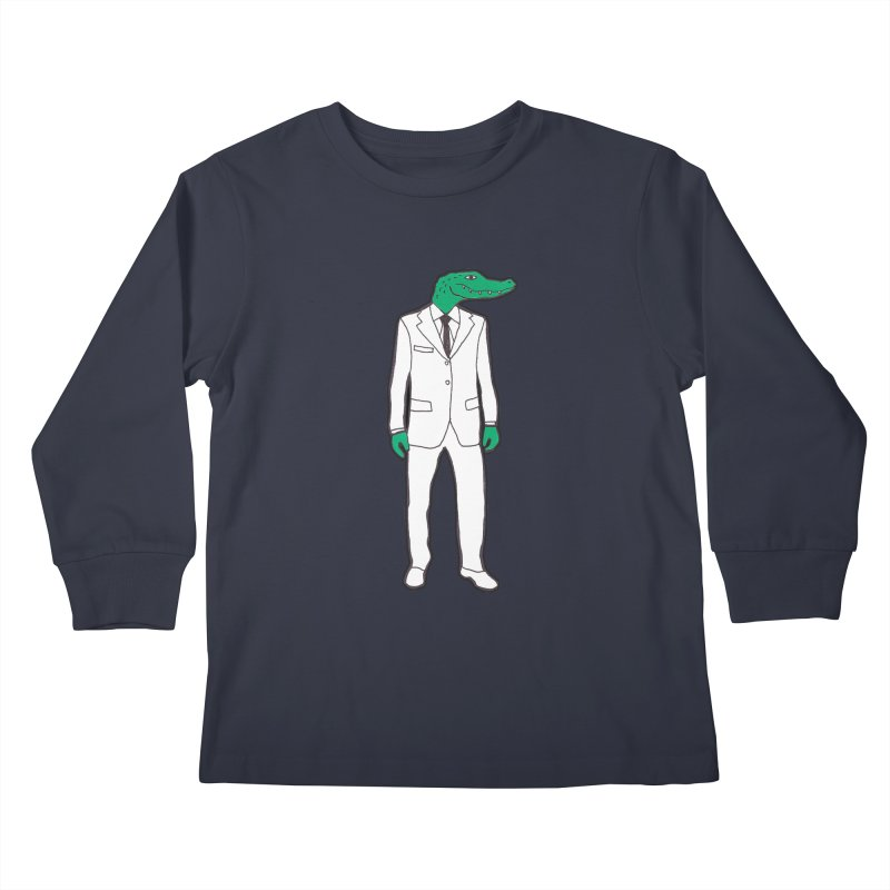 Gator Kids Longsleeve T-Shirt by MarcPaperScissor's Artist Shop