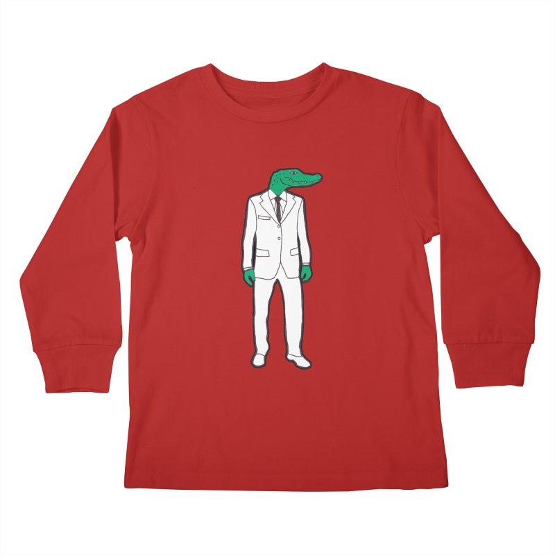 Gator Kids Longsleeve T-Shirt by MarcPaperScissor's Artist Shop