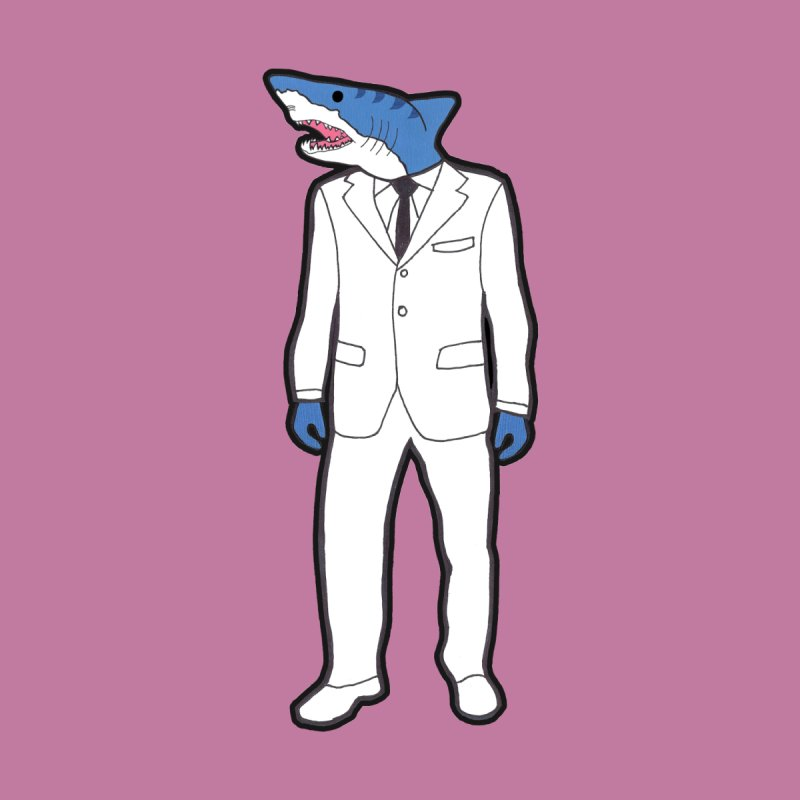 Shark None  by MarcPaperScissor's Artist Shop