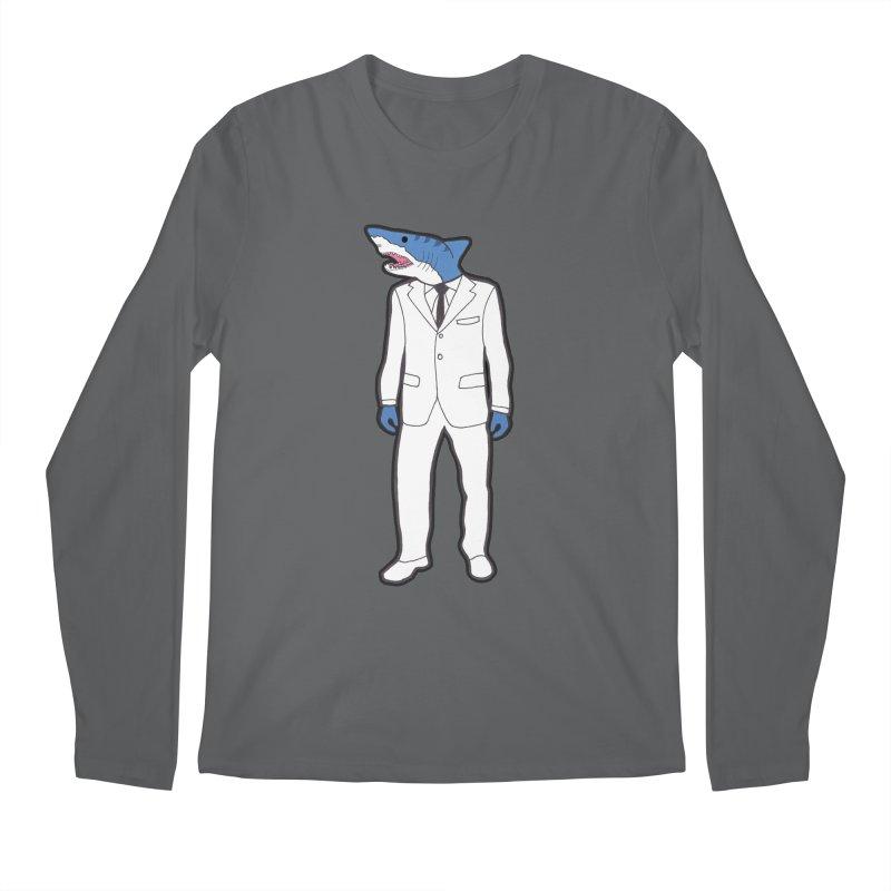 Shark Men's Regular Longsleeve T-Shirt by MarcPaperScissor's Artist Shop