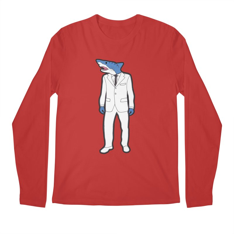 Shark Men's Longsleeve T-Shirt by MarcPaperScissor's Artist Shop