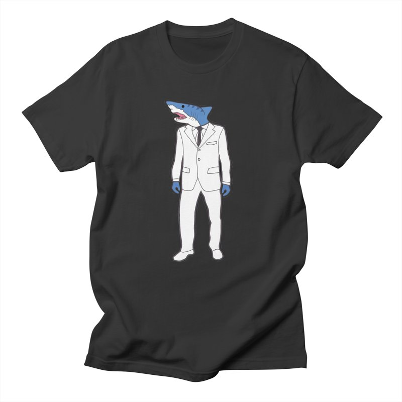Shark Men's Regular T-Shirt by MarcPaperScissor's Artist Shop
