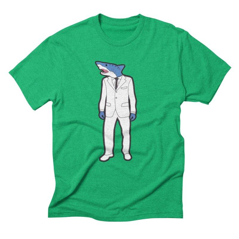 Shark Men's Triblend T-Shirt by MarcPaperScissor's Artist Shop