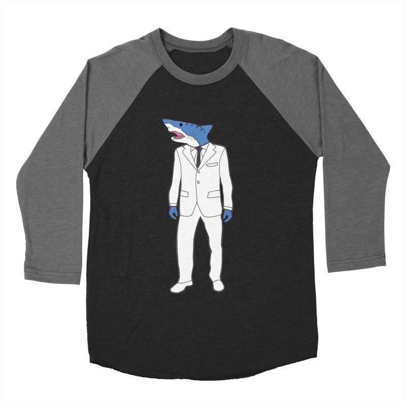 Shark Women's Baseball Triblend T-Shirt by MarcPaperScissor's Artist Shop