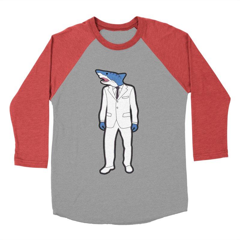Shark Men's Baseball Triblend T-Shirt by MarcPaperScissor's Artist Shop