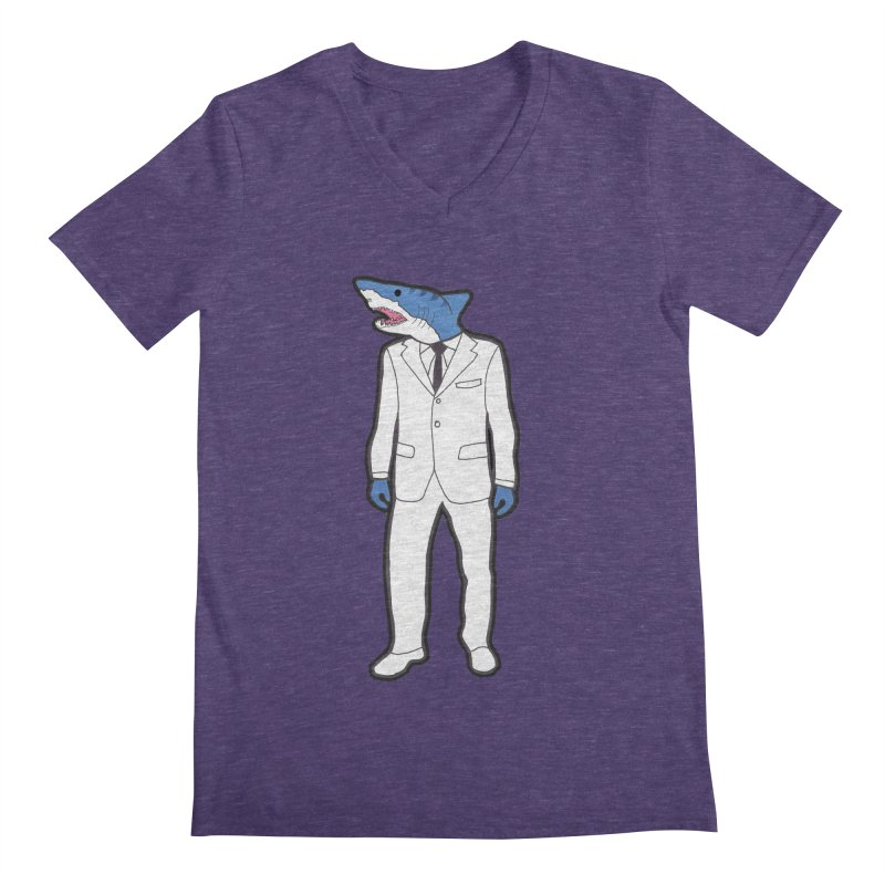 Shark Men's Regular V-Neck by MarcPaperScissor's Artist Shop