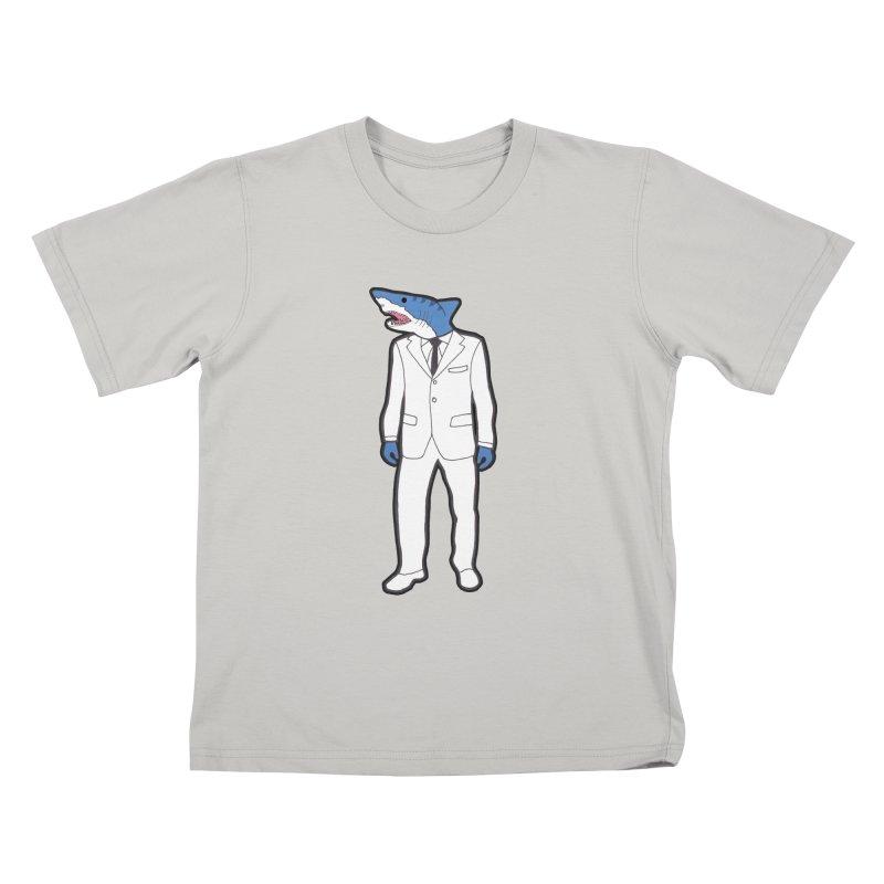 Shark Kids T-shirt by MarcPaperScissor's Artist Shop