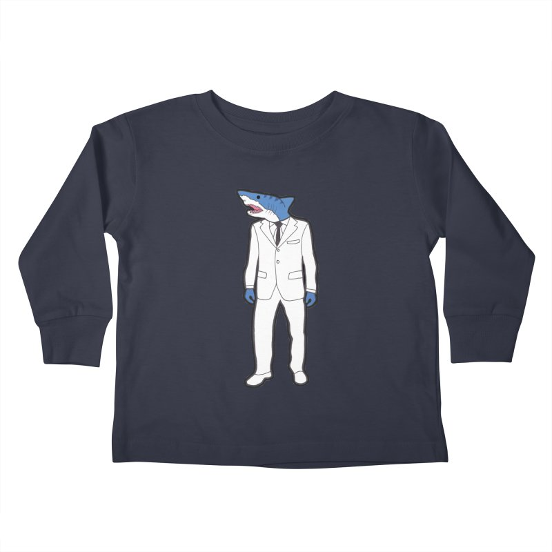 Shark Kids Toddler Longsleeve T-Shirt by MarcPaperScissor's Artist Shop