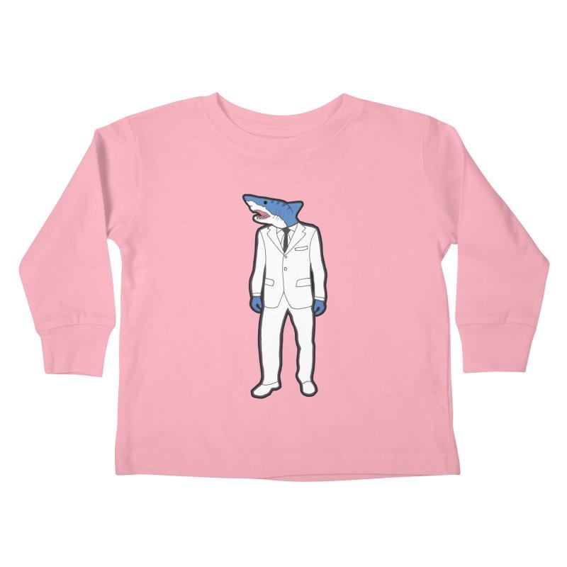 Shark Kids Toddler Longsleeve T-Shirt by MarcPaperScissor's Artist Shop