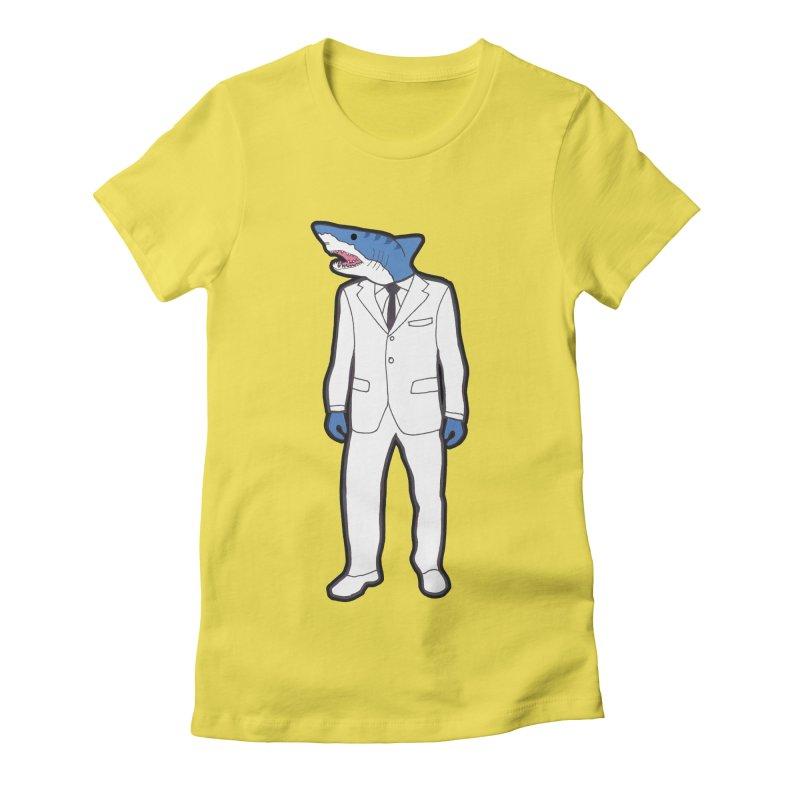 Shark Women's Fitted T-Shirt by MarcPaperScissor's Artist Shop