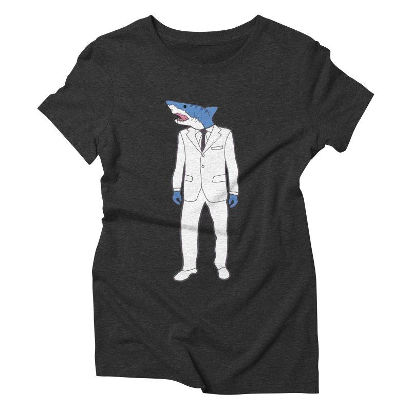 Shark Women's Triblend T-Shirt by MarcPaperScissor's Artist Shop