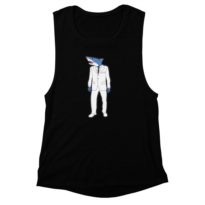 Shark Women's Muscle Tank by MarcPaperScissor's Artist Shop
